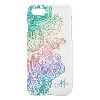 Elegantes Regenbogen-Spitze-Monogramm weißer iPhone 7 Hülle