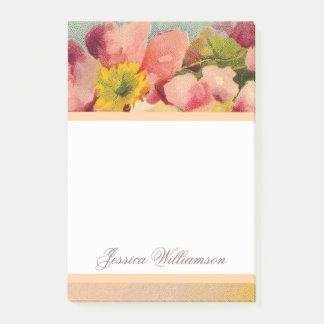 Elegantes Retro Primeroses mit Blumen Post-it Haftnotiz