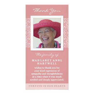 Elegantes Rosa danken Ihnen ErinnerungsFoto-Karte Photokarte