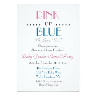 Elegantes rosa oder blaues Geschlecht decken Karte