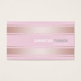 Elegantes Rosa Stripes berufliche Gewohnheit Visitenkarte