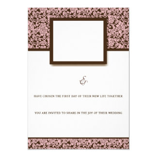 Elegantes Rosa und Brown Karte