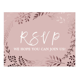 Elegantes Rosen-Gold und rosa Lied-Antrag UAWG Postkarte
