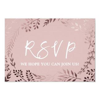 Elegantes Rosen-Gold und rosa Menü-Wahl UAWG Karte