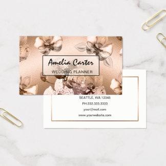 Elegantes Rosen-Goldblumengeschäftskarten Visitenkarte
