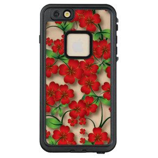 Elegantes rotes Blumenmuster iPhone 6/6s plus Fall