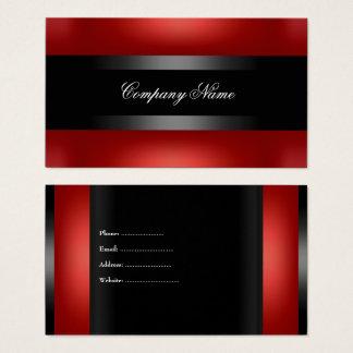 Elegantes rotes schwarzes unzerstörbares visitenkarte