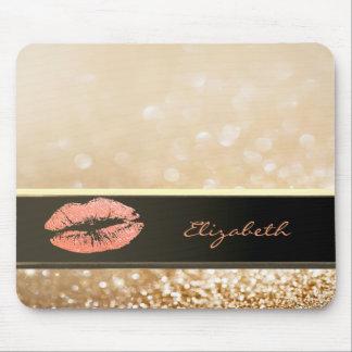 Elegantes schickes Bokeh Glittery Mousepad