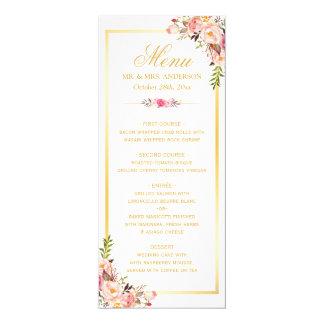 Elegantes schickes rosa 10,2 x 23,5 cm einladungskarte