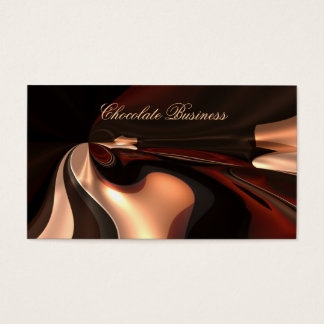 Elegantes Schokoladen-Strudel-Creme-Brown-Profil Visitenkarte