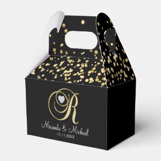 Elegantes schwarzes Hochzeits-Geschenk des Geschenkschachtel