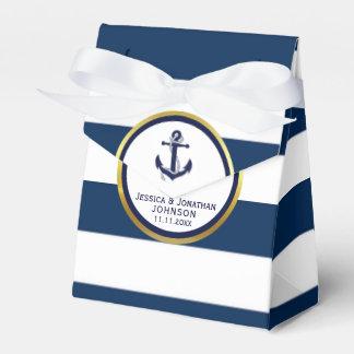 Elegantes Seemarine-Blau-weißes Hochzeits-Geschenk Geschenkschachtel