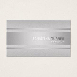 Elegantes silbernes Imitat maserte berufliche Visitenkarte