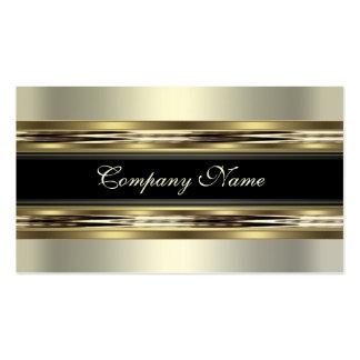Elegantes silbernes Zinn-Chrom-Metallschwarzes 2 Visitenkarte