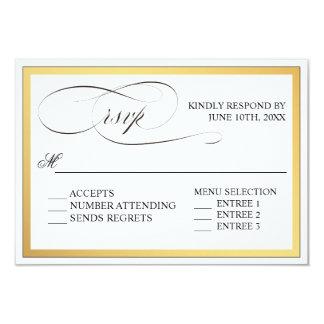 Elegantes Skript blüht Hochzeit UAWG Karte