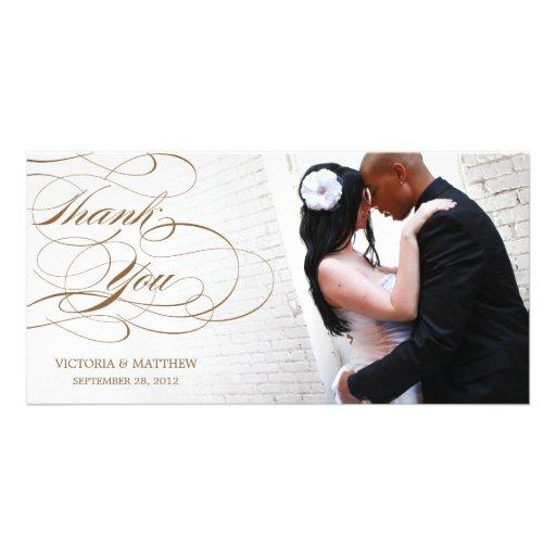 ELEGANTES SKRIPT WEDDING %PIPE% DANKEN IHNEN FOTO- PHOTO KARTE