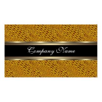 Elegantes Snakeskin gelbes Chrom-Metallschwarzes 2 Visitenkarten