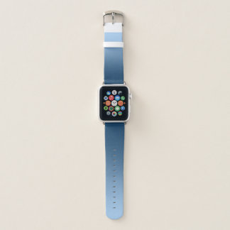 Elegantes Steigungs-Blau Apple Watch Armband
