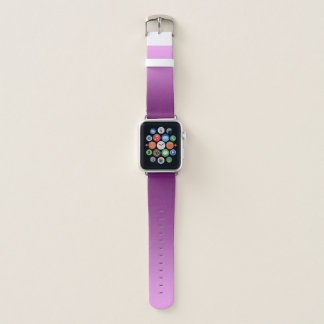 Elegantes Steigungs-Rosa Apple Watch Armband
