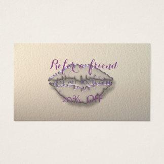 Elegantes stilvolles, Lippenempfehlungs-Karte Visitenkarten