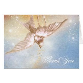 Elegantes Tauben-Begräbnis danken Ihnen Karten