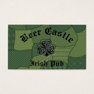 Elegantes trendy glückliches irisches visitenkarte
