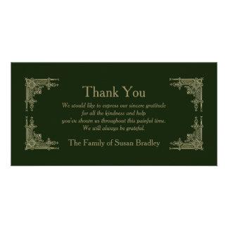 Elegantes Vintages -2 - Beileid danken Ihnen Bildkarte