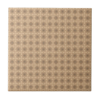 Elegantes Vintages Muster Kleine Quadratische Fliese