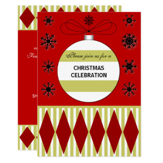 Elegantes WeihnachtsParty Karte