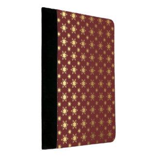 Elegantes Weihnachtsschneeflocke-Goldfolien-Muster Padfolio