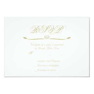 Elegantes Weiß-und Goldmonogramm UAWG 8,9 X 12,7 Cm Einladungskarte