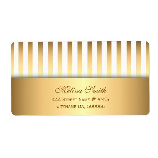 Elegantes Weiß-und Goldstreifen-Muster