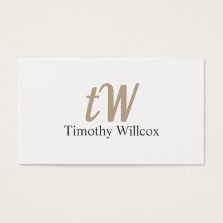 Elegantes Weiß Visitenkarte