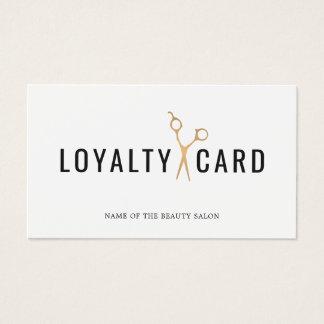Elegantes weißes Imitat-Gold Scissor Visitenkarten
