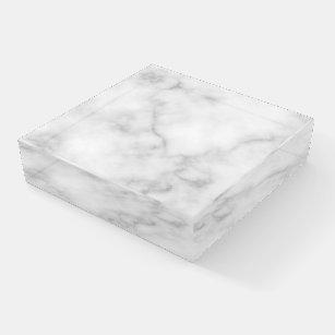 Elegantes, weißes Marmormuster Briefbeschwerer