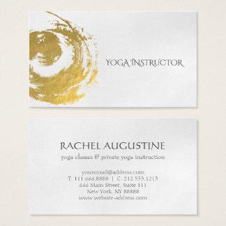 Elegantes YOGA GoldfolieBrushstrokes ZEN Symbol Visitenkarte
