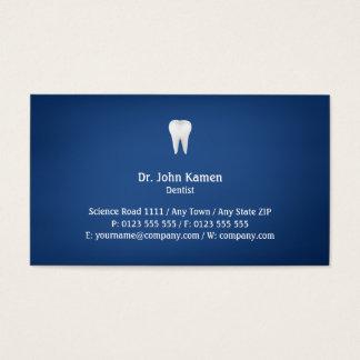 Elegantes zahnmedizinisches | Blau Visitenkarte