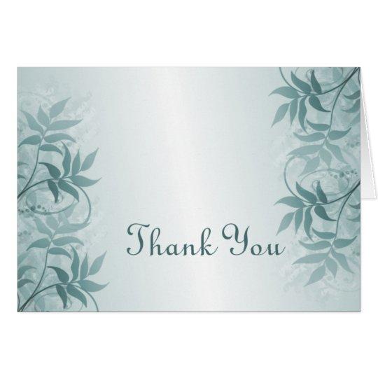Eleganz dankt Ihnen zu kardieren Karte