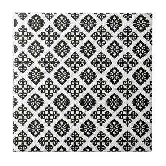 Eleganz in Schwarzem u. im Weiß Kleine Quadratische Fliese