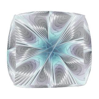 Eleganz-moderne blaue graues kubus sitzpuff