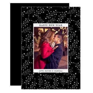 Eleganz-neues Jahr-Foto-Feiertag Karte