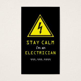 Elektriker, elektrisch, Baugewerbe-Karte Visitenkarte