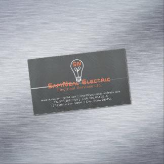 Elektrikerglühlampenlogo-Magnet-Visitenkarte Magnetische Visitenkarte