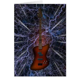 Elektrische Bass-Gitarre Grußkarte