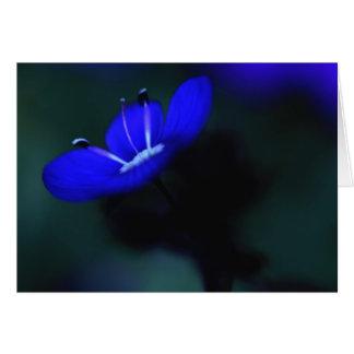 Elektrische blaue Blume Grußkarte