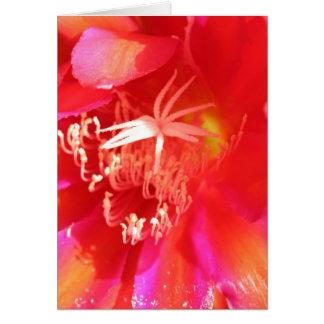 Elektrische Blume Grußkarte