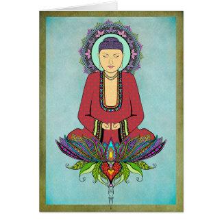 Elektrische Buddha-Gruß-Karte Grußkarte