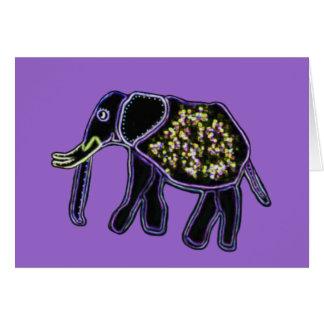 Elektrische Elefanten Grußkarte