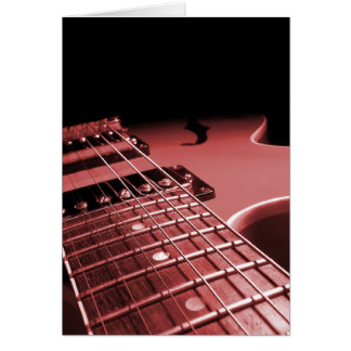 Elektrische Gitarren-nahes hohes - Rot Grußkarte
