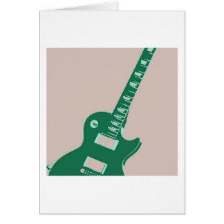 Elektrische Gitarren-Pop-Kunst Karte